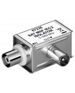 Galvaaninen maaerotin, IEC uros - IEC naaras, 5-1000 MHz