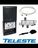Teleste ALTER-KT LTvE™ UHF/VHF/FM vahvistin & LTE/UHF/VHF/FM yhdyssuodin paketti, LTE700 & LTE800 valmis