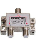 König jakaja, 1 F naaras - 2 F naaras, 5-1000 MHz, metallikotelo