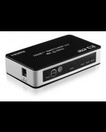 Deltaco HDMI-kytkin 3/1, 4K/UHD, 2160p@60Hz, HDCP, CEC, automaattinen, kaukosäädin