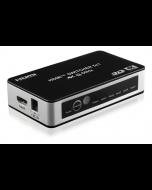 Deltaco HDMI-kytkin 5/1, 4K/UHD, 2160p@60Hz, HDCP, CEC, automaattinen, kaukosäädin
