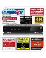 AX 4K-BOX HD51 UHD-antenni- & kaapelidigiboksi, 2 viritintä, kiintolevy + SatShop.fi ohjelmisto asennettuna