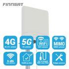 Finnsat FS1500 4G/5G/WiFi MIMO ympärisäteilevä antenni, 698-5000 MHz, 4-6 dBi, 2 ulostuloa