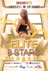 Redlight Elite HD 8 Stars katselukortti, 8 kanavaa, 12 kk, Viaccess, Hotbird 13E, K18