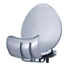 Satelliittipaketti 90 cm Toroidal 4 satelliitin vastaanottoon, 2 virittimelle