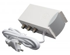 Triax IFP124 virtalähde antennivahvistimille, 230 V > 24 V, 200 mA, 2 ulostuloa