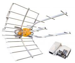 Televés 148925 Ellipse DVB-T/T2 antenni vahvistimella, 38dB, LTE700 & LTE800 suojattu + virtalähde