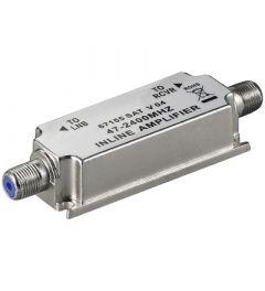 Satelliitti- ja antennisignaalin vahvistin, 47-2400 MHz, 20 dB