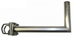 Parvekekaidekiinnike, L-mallinen, 450 mm, alumiinia