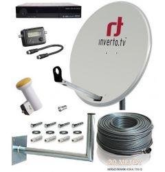 Täydellinen satelliittipaketti 120 cm 32 virittimelle + HD-digiboksit