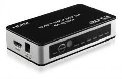 Deltaco HDMI-kytkin 5/1, 4K/UHD@60Hz, HDCP, CEC, automaattinen, kaukosäädin