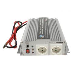 HQ Invertteri 12 V > 230 V, 1000 W, USB