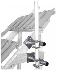 Mastokiinnikepari maston kiinnittämiseen kattotuoliin, 38-60 mm, terästä