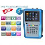 """HW7390 UHD satelliitti-, antenni- ja kaapelimittari & spektrianalysaattori, DVB-S2/T2/C viritin, 5"""" LCD-näyttö, MER, BER & HEVC"""