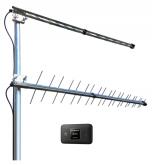 4G/LTE-mökkipaketti syrjäisille alueille: Huawei modeemi akulla + tehokkaimmat antennit syrjäisille alueille