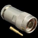 N uros liitin, CFD-400, MLL-400, LMR-400 ja RG-8 kaapeleille, kompressoitava ilman työkaluja