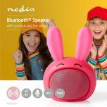 Nedis Animaticks-Bluetooth-kaiutin, 3 tunnin käyttöaika, Hands-free-puhelut, Robby Rabbit