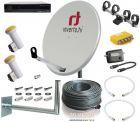 Täydellinen satelliittipaketti 120 cm 2 satelliitille + HD-digiboksi