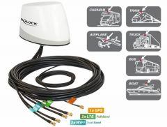 DeLOCK monikaista-antenni, GPS, LTE-MIMO, WLAN MIMO, 5 x RP-SMA, 3 m, IP67