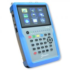 """Summit SCT 835 satelliitti-, antenni- ja kaapelimittari & spektrianalysaattori, DVB-S2/T2/C viritin, 5"""" LCD-näyttö, MER & BER"""