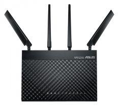 Asus 4G-AC68U 3G/4G/LTE/LTE-A modeemi & Dual Band AC1900 WiFi-/4-porttinen reititin, 2 x SMA naaras liitäntää ulkoisille 4G-antenneille