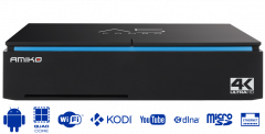 Amiko A5 combo 4K/UHD, DVB-S2+T2/C, Android 7.1
