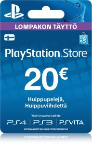 Sony Playstation Network (PSN) kortti 20 €