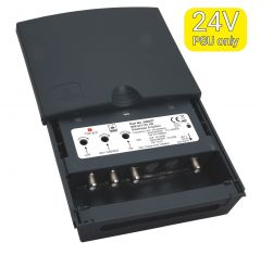 Triax MFA 657 UHF/VHF/FM vahvistin (35/22/22 dB) ja yhdyssuodin, 1 ulostulo, LTE700 & LTE800 suojattu
