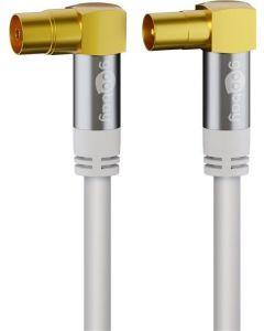 Antennikaapeli 135 dB, 1 m, IEC-liittimillä, kullatut liittimet