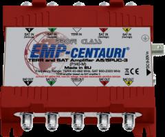 EMP-Centauri A5/5PUC-3 Profi Class vahvistin, 40-2300 MHz, 10-15 dB, 5 sisään, 5 ulos, kalteva vahvistus