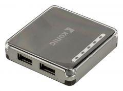 König 4 porttinen USB 2.0 Hub 4/1
