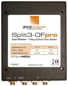 Invacom Split3-OFpro optinen jakaja, 1 x FC/PC - 3 x FC/PC