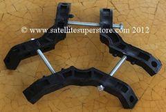 Feedhorn Support Boss No2 syöttötorven tuki, pitkät ruuvit, max 60 mm kaula