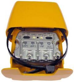 Televés 561701 UHF/UHF/VHF mastovahvistin ja yhdyssuodin, 7-27 dB USOS, 1 ulostulo, LTE800 suojattu - ASIAKASPALAUTUS