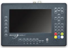 """Golden Media Multibox 2 satelliitti-, antenni- ja kaapelimittari & spektrianalysaattori, DVB-S2/T2/C viritin, 7"""" LCD-näyttö"""