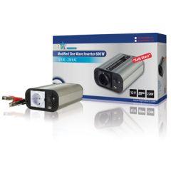 HQ Invertteri 12 V > 230 V, 600 W, USB