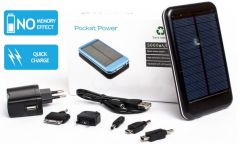 Pocket Power Solar PowerBank, 5000 mAh, 1 USB-laitteelle