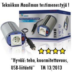 HQ Invertteri 12 V > 230 V, 150 W, USB