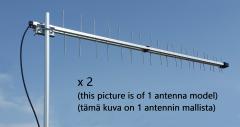 Iskra P-40 MIMO 3G/4G/LTE/GSM-suunta-antennipaketti (2 antennia), 700-960 MHz, 2 x 12-13 dBi