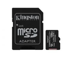 Kingston 128GB micSDXC Canvas Select Plus 100R A1 C10 kortti + adapteri