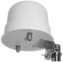 3G/4G/LTE/GSM MIMO ristipolarisaatio ympärisäteilevä antenni, 700-2700 MHz, 2 x 15 dBi, 2 ulostuloa