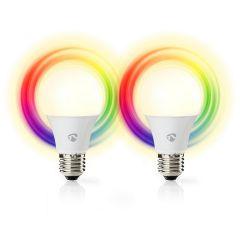 Nedis SmartLife LED-älylamppu, WiFi, RGBW, E27, 2 kpl