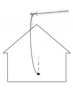 3G/4G/LTE/GSM Yagi silta / passiivitoistin parantamaan sisätilojen signaalia, vain maaseudulle, 800-900 MHz