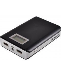 Sandberg PowerBank, 12000 mAh, 2 USB-laitteelle