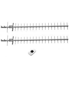3G/4G/LTE-mökkipaketti syrjäisille alueille: Huawei E5577s modeemi akulla + tehokkaimmat antennit syrjäisille alueille