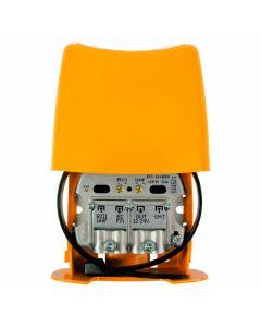 Televés 561521 UHF+VHF mastovahvistin ja SAT/UHF+VHF/FM yhdyssuodin, USOS, 1 ulostulo, LTE700 suojattu