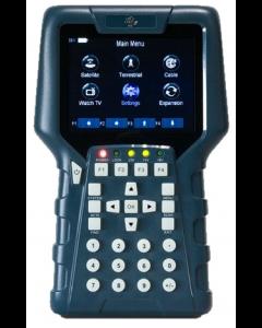 """AB CryptoBox Metrio 2 UHD satelliitti-, antenni- ja kaapelimittari & spektrianalysaattori, DVB-S2/T2/C2 viritin, 3,5"""" LCD-näyttö, MER & BER"""