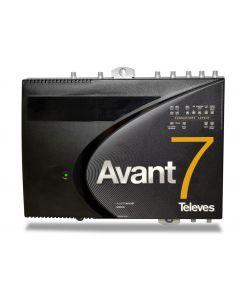 Televés 532940 Avant 7 antenniverkon ohjelmoitava päävahvistin, 3xUHF/VHF/FM, DVB-T2, LTE700 & LTE800 ready