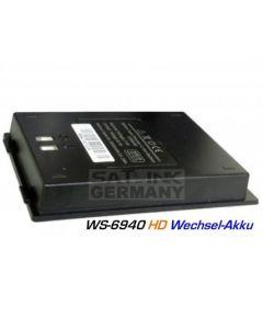 Satlink vara-akku WS-6940 varten, 3000 mAh