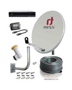 Täydellinen satelliittipaketti 90 cm 32 virittimelle + HD-digiboksit